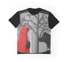 Red Riding Hood Meets the Wolf Graphic T-Shirt