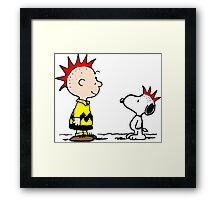 Snoopy and Charlie Brown Punk Framed Print
