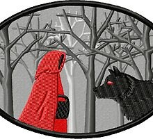 Red Riding Hood Meets the Wolf by storiedthreads