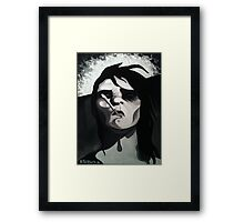 Man Smoking Framed Print