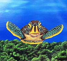 "Aloha..........""Honu'ea Sean""........""SLOW MOVER"" by WhiteDove Studio kj gordon"