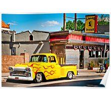 Lincoln Diner Hotrod Poster