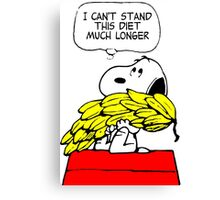 Hungry Snoopy Peanuts Canvas Print