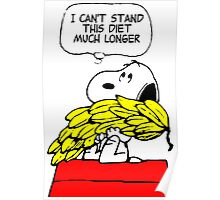 Hungry Snoopy Peanuts Poster