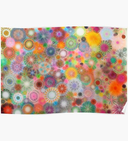Childhood Dreams - shiney Spirograph Art Poster