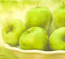 Green Apples by shuttermom