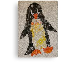 Spirograph Penguin with Filter Canvas Print