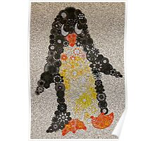 Spirograph Penguin with Filter Poster