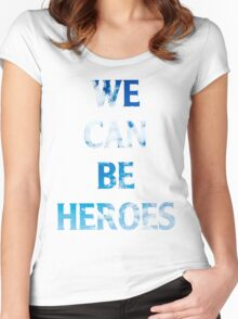 Heroes  Women's Fitted Scoop T-Shirt