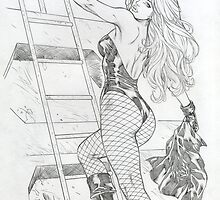 Boarding the Boat in Fishnets by alrioart