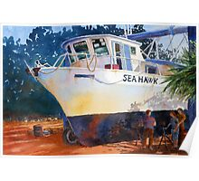 The Seahawk in Drydock Poster
