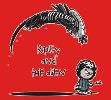 Ripley and the Alien - Black t-shirt Kids Clothes