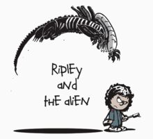 Ripley and the Alien - Black t-shirt Baby Tee