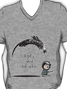 Ripley and the Alien - Black t-shirt T-Shirt
