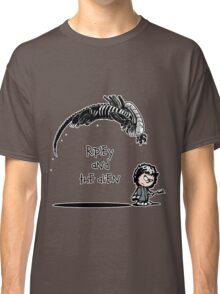 Ripley and the Alien - Black t-shirt Classic T-Shirt