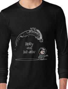 Ripley and the Alien - Black t-shirt Long Sleeve T-Shirt