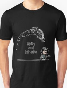 Ripley and the Alien - Black t-shirt Unisex T-Shirt