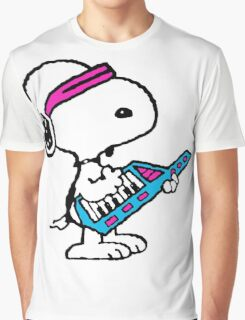 Keytar Snoopy Graphic T-Shirt