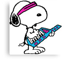 Keytar Snoopy Canvas Print