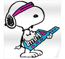Keytar Snoopy Poster