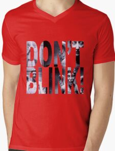 Weeping Angels - Don't Blink!! Mens V-Neck T-Shirt
