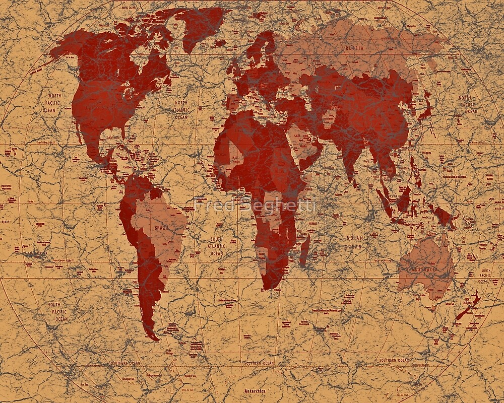 Map of the World by Fred Seghetti