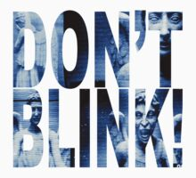 Weeping Angels - Don't Blink!! Blue* by aamazed