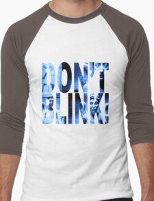 Weeping Angels - Don't Blink!! Blue* Men's Baseball ¾ T-Shirt