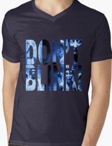 Weeping Angels - Don't Blink!! Blue* Mens V-Neck T-Shirt