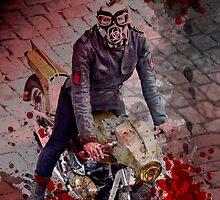Zombie Hunter Motorcycle Girl by motolady