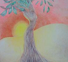 Tree of Woman, African landscape by Monica Batiste