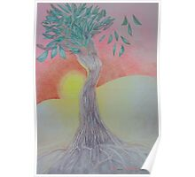 Tree of Woman, African landscape Poster