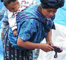 Market Vendor, with Baby by heatherfriedman