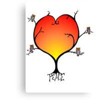 Peaceful Owl Tree Canvas Print