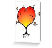 Peaceful Owl Tree Greeting Card