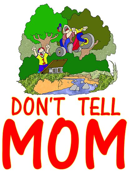 Don 39 t tell mom bike by skree redbubble for Don t tell mom tattoo