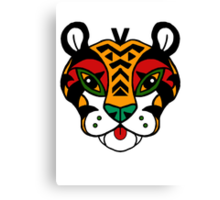 Aztec Tiger Totem Canvas Print