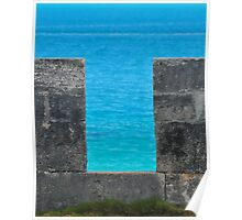 Turquoise Fort Wall Poster