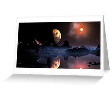 Burning Moon Greeting Card