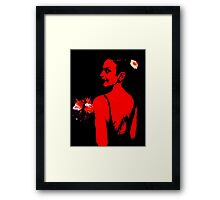 The Bridesmaid: Red Framed Print