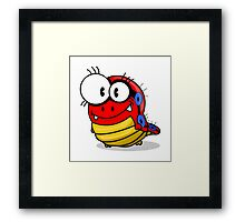 Cartoon caterpillar Framed Print