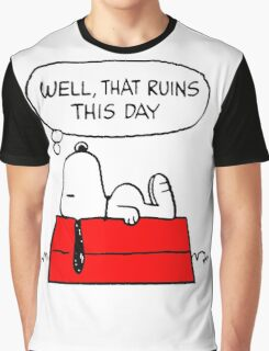 Sad Snoopy Graphic T-Shirt