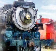 Locomotive and Caboose by Susan Savad
