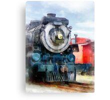 Locomotive and Caboose Canvas Print