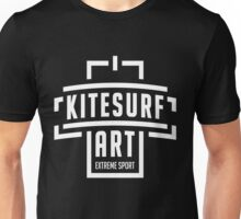 Kitesurf Art White Design Unisex T-Shirt