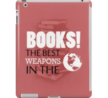 You want weapons? We're in a library! iPad Case/Skin