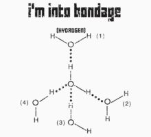 Excuse Me While I Science: I'm Into Bondage (Hydrogen) - Black Text Version by AlexNoir