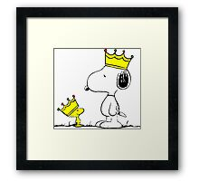 Snoopy and Woodstock Kings Framed Print