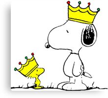 Snoopy and Woodstock Kings Canvas Print