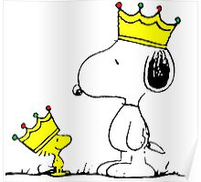 Snoopy and Woodstock Kings Poster
